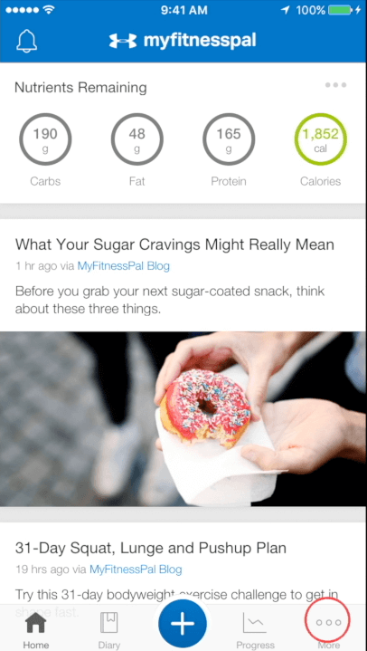 MyFitnessPal Premium Tutorial: Set Different Macros for Different
